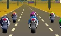Moto sur la route