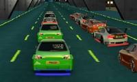 Voiture de course en ville 3D