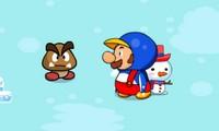 Mario Bataille de neige