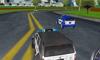 Course de voiture de police 3D