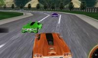Course de voiture de sport 3D