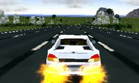 Voiture sur autoroute 3D