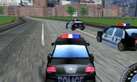Voiture de police de course