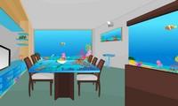 Evasion chambre avec aquarium