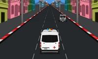 Ambulance à conduire en ville
