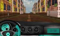 Conduite voiture 3D sur la route