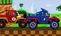 Course en camion avec Sonic contre Knuckles