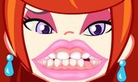 Soigner les dents d'une fille