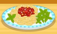 Recette de pâtes avec sauce tomate