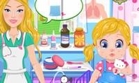 Soigner le bébé de barbie d'une allergie