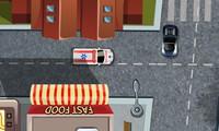 Ambulance dans une ville
