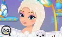 Bain de bébé Elsa la Reine des neiges