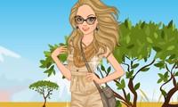 Habiller une fille qui fait un safari