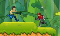 Super guerrier contre robots et aliens