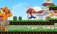 Mario court et évite les obstacles