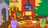 Maison du Père Noël à nettoyer et décorer