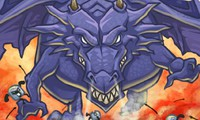 Dragon contre une armée de guerriers