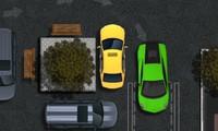 Voiture de sport verte à garer