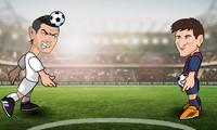 Ronaldo contre Messi 2 joueurs