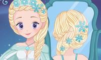 Vraies tresses pour Elsa reine des neiges