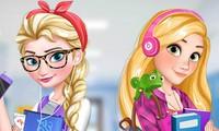 Habillage Elsa et Raiponce au collège