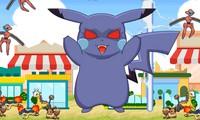 Méchant Pikachu détruit une ville