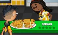 Simulation de restaurant de sandwich au fromage