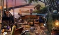 Objets cachés dans un bateau pirate aux Caraïbes