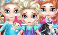 Bébé Elsa et Anna chez le docteur