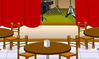 Enfermé dans un café