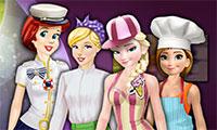 Habillage au travail des princesses Disney