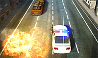 Voiture de police 3D en guerre