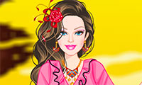 Habiller Barbie en princesse gitane
