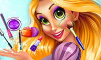 Beauté et maquillage de princesse Raiponce
