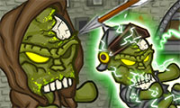 Défendre le chateau contre des zombies