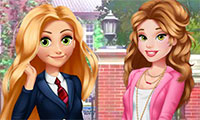 Habillage de princesse étudiante