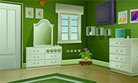 Sortir d'un appartement vert