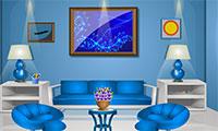 Evasion appartement bleu