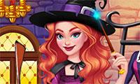 Habiller une sorcière d'Halloween