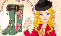Habiller Barbie avec des bottes d'automne