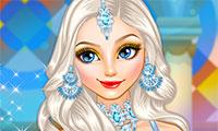 Habiller Elsa en princesse arabe