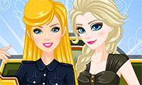 Habillage militaire de Barbie et Elsa