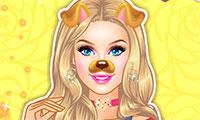 Habillage de Barbie pour Snapchat